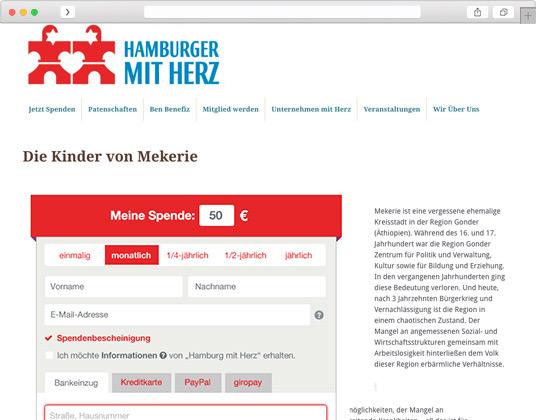 Screenshot hamburger mit herz