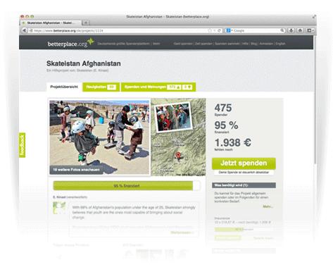 Deine Projektseite auf betterplace.org