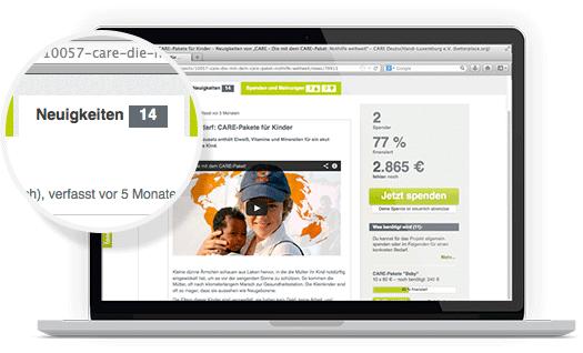 Informiere Deine Spender in Echtzeit über Neuigkeiten – per Blog und Newsletter.