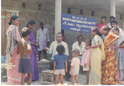 Big_bass_medical_camp_in_a_village