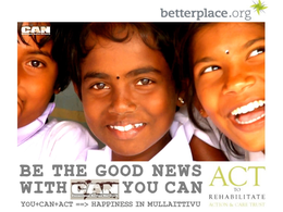 YOU+CAN+ACT = HAPPINESS IN MULLAITIVU, MARCH 2012