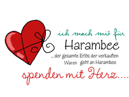 Janeas World für HARAMBEE Spendenaktion
